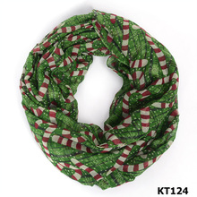 2016 Hot selling fashion voile christmas candy infinity scarf