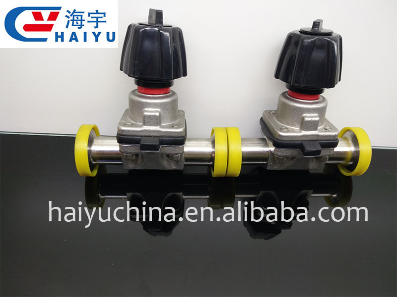 Food grade stainless steel pneumatic diaphragm valve
