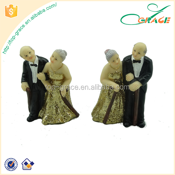 decorative resin golden wedding anniversary gifts