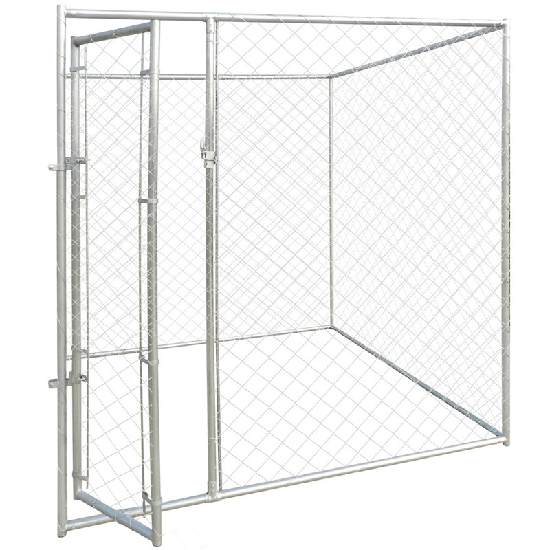 Ourable and auti-rust galvanized comfortable low price large outdoor dog kennels/pet houses