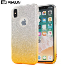 3 in 1 Luxury design tpu pp hybrid glitter phone case for iphone x phone accesories