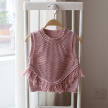 UVX114 2016 Bestselling Hand Knitted Kid Sweater Vest Latest Sweater Designs For Child