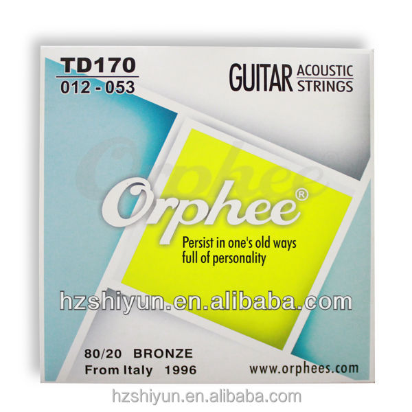 first class silver plating guitar strings for acoustic guitar