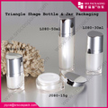 Beauty Packaging Natural Lotion Triangle Shape Bottle