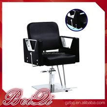 Wide Strong Luxury Antique Barber Chair with Footrest Styling Reclining Salon Chair Salon Station