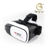 2016 vr 3d box movie game glasses vr case with headband for HTC