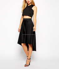 ladies short front and long back skirts casual