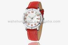 Promotional custom perfect japan movt wrist leather lady watch classic 2014