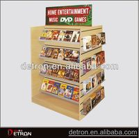 Hot sale Wood floor standing cd display stand
