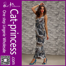 2014 wholesale sleeveless ankle length printed long maxi dress