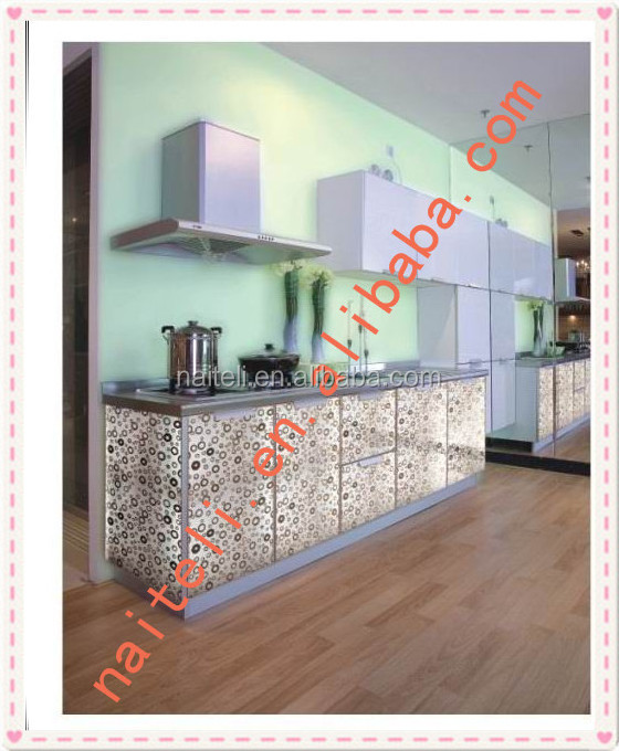 Artificial Panel with Bamboo Ring Modern Kitchen Cabinets