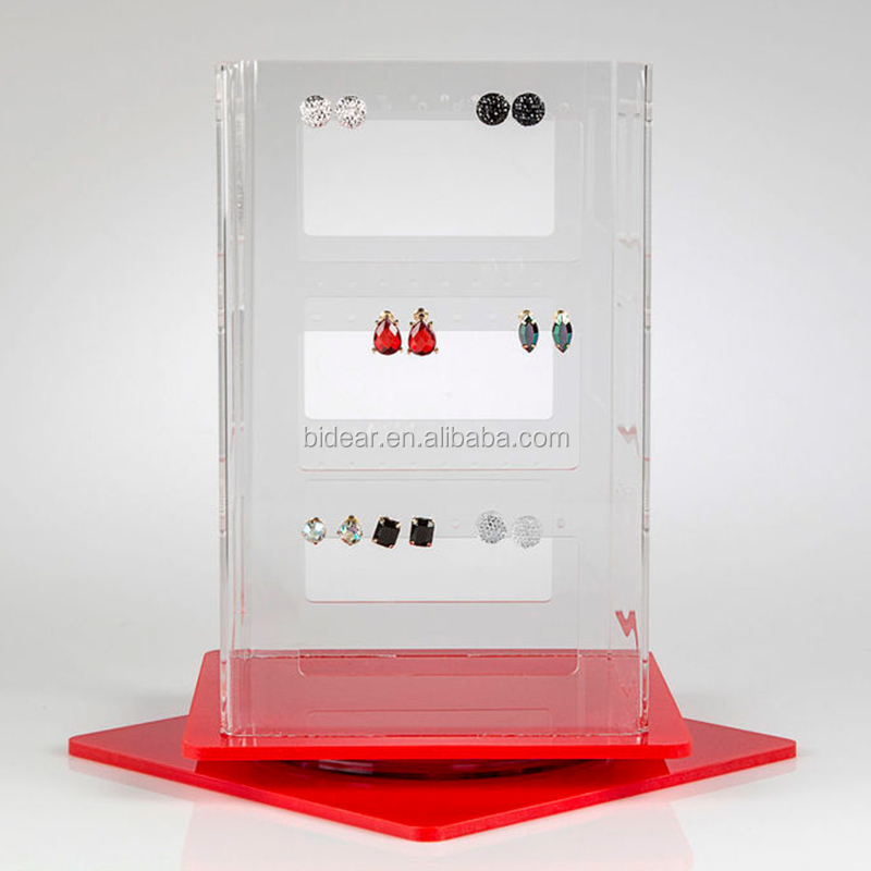 POS exhibition counter displays rotating jewellery display for earrings