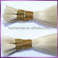 High quality hot selling wholesale human white bundle hair extensions