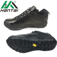 Chinese New Genuine Black leather military shoes men