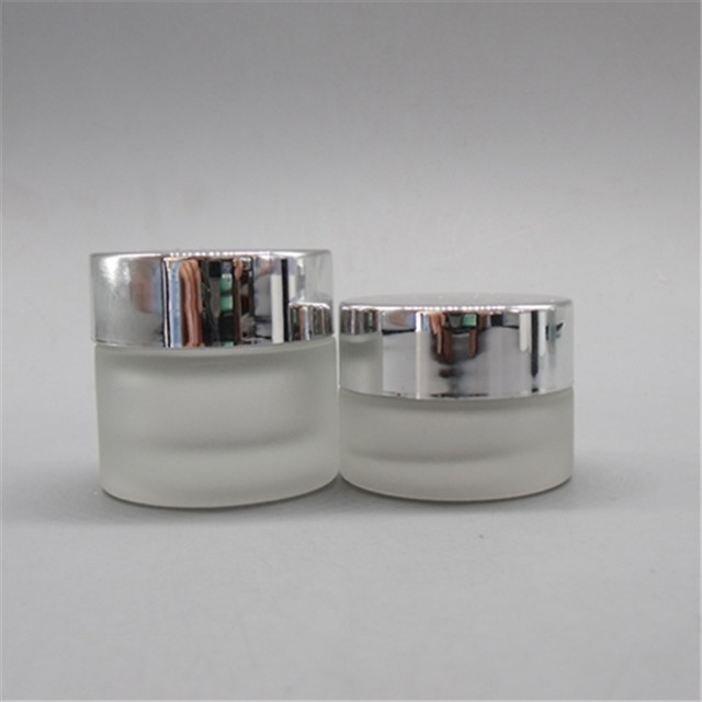 Dermax small glass containers clear frosted gold supplier