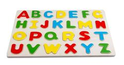 Wood alphabet board puzzle, wood education toy board