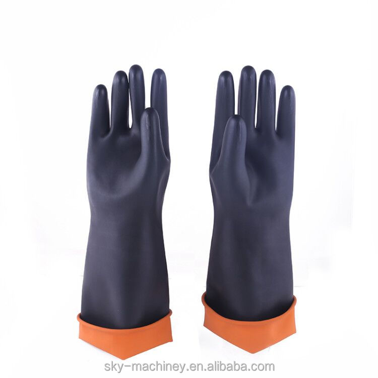 Skyagri smooth PVC waterproof protective working agriculture chemical resistant <strong>glove</strong>