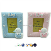 Polyresin pink and blue Baby gifts for Boy and Girl photo frame souvenir