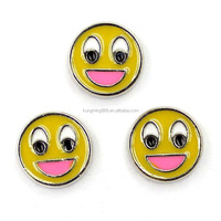 Wholesale Metal Smiley Emoji Charms for Locket Floating Charms