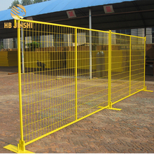 Canada Yellow color pvc powder coated construction temporary fence panel
