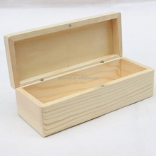 Unfinished natural color solid pine wood tea boxes, custom-made tea packaging box, tea bag box