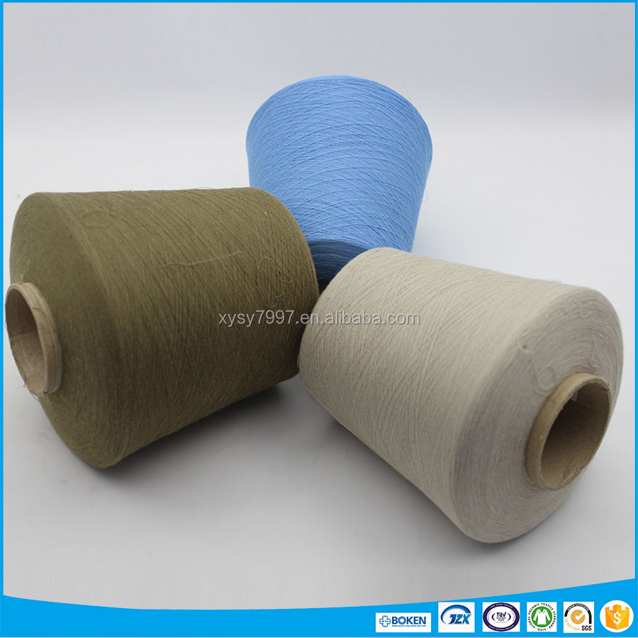 Deodorant cotton polyester blended yarn for knitting t-shirts