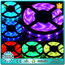 3528 60D 12V flexible RGB color change 4.8w non-water proof led strip light with good quality