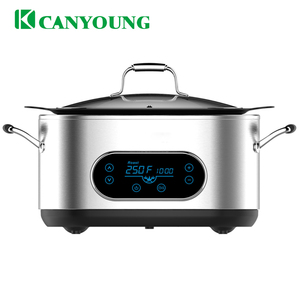 6Qt Electrical programmable cooking function glass lid multi cooker/cookware/Rice cooker/Roaster/Sous vide