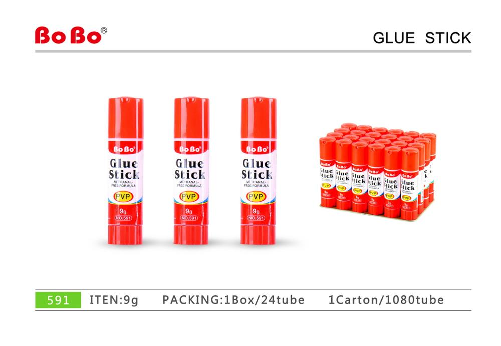 China factory stationery non-toxic 9g PVP glue stick Adhesivo en barra
