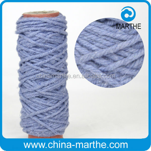 cotton mop yarn/ recycled yarn cotton polyester/ colorful mop yarn
