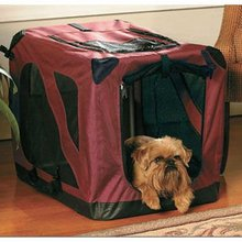 Foldable Pet Soft Crate stainless Steel dog cage
