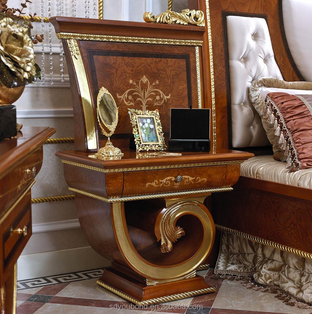 0038 Arabisch Holzgeschnitzten Luxushotel Schlafzimmer
