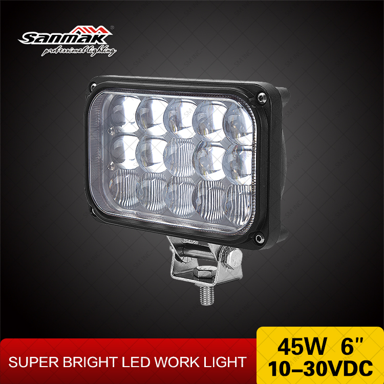 45w 4x6 High power rectangle led work light auto truck trailer headlamp china wholesale auto parts