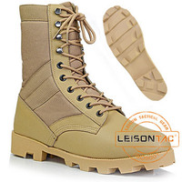 Army Boots with leather and nylon ISO standard boots Professional Manufacturer