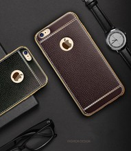 Phone case factory accept oem phone case litchi grain leather cell phone case for iPhone 7 7plus