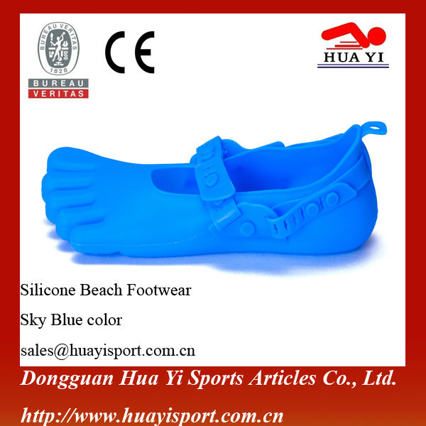 Summer fashion patent various colors logo print silicone sand beach shoes