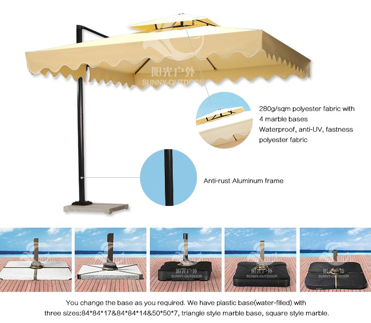 Hot Sale Polyester Fabric Material Garden Parasol Umbrellas,Indian Parasol