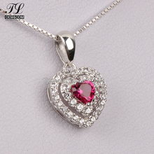 Factory sale christmas gift heart indian ruby 8 10 12 grams gold necklace designs