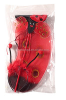 passion smile red bee fairy wing with headband&wand carnival favor party decoration