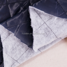 quilted padding Downjackt Straight line quilted fabric/padded polyester taffeta/ cheaper jacket materials