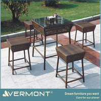 Rattan Material Table and Chair