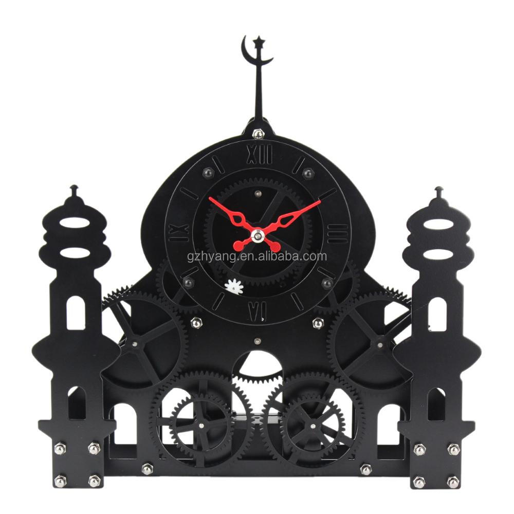 new design Metal Moon & Starsantique mantle clock