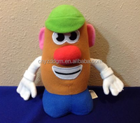 cute plush stuffed musical funny potato head doll toy/custom plush toy