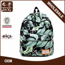 wholesale high quality print canvas custom printed backpack