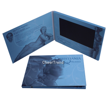 2015 new products lcd video brochure card youtube chinese movie