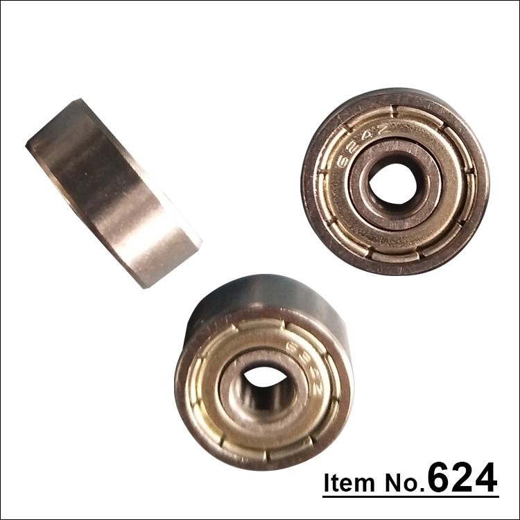 Stable performance super precision deep groove ball bearing 624Z pulley wheel bearings