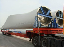Huayu Manufacturer 60M Wind Turbine Blade Power Equipment Transport Retractable Extendable Flatbed Semi Trailer