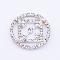 Latest Fashion Round Square Glitter Rhinestone