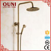 ON-04 Luxury wall mounted copper adjustable durable rain shower sliding bar set
