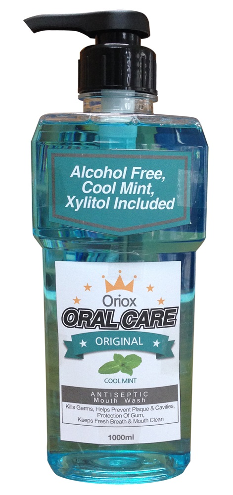High quality Oriox Oral Care 1000ml pump mouthwash